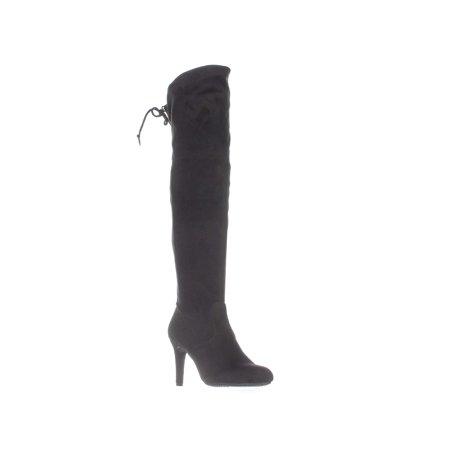 Rialto Calla Pull On Over-The-Knee Boots, Black - image 1 de 2