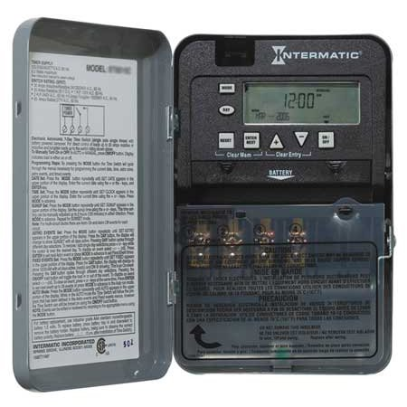 Electronic Timer,7 Days,SPDT INTERMATIC ET1715C