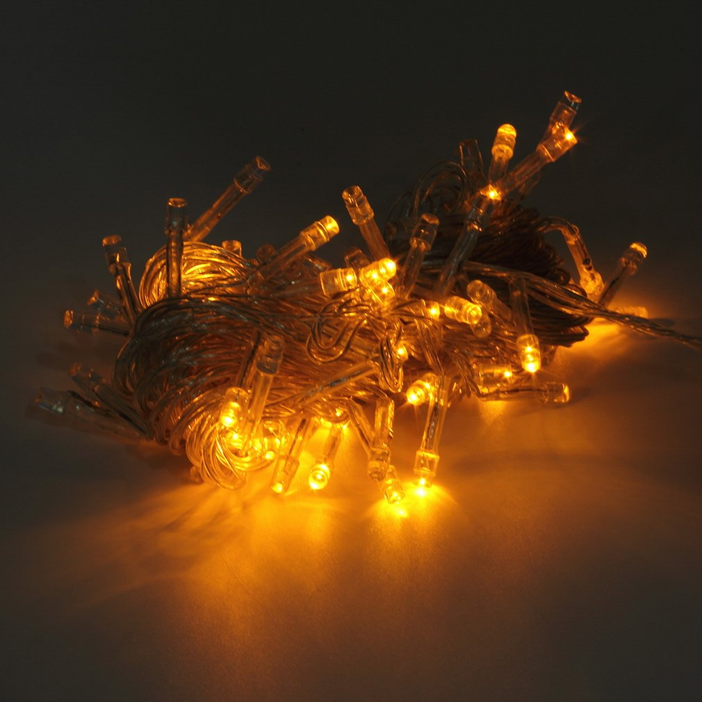 Yellow 10M 100LED Holiday Christmas Party String Fairy Outdoor Garden Lights Decor new arrival