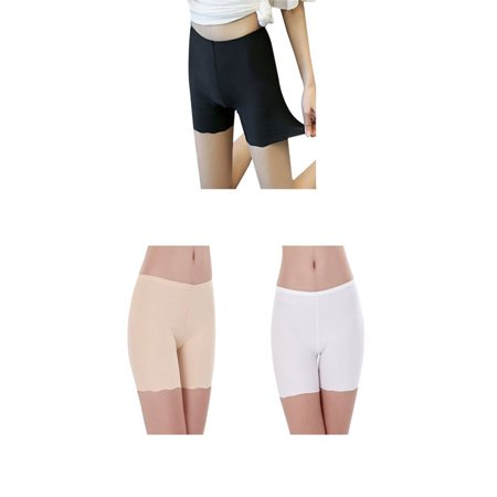 Jade Silk Shorts - Ladies Ice Silk Seamless Underwear Elastic Safty Pants Anti Exposure Shorts