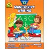 School Zone Manuscript Writing Workbook, Grades K-2 This workbook uses clear instructions and lots of careful practice to help your child develop legible handwriting. Pages include the proper starting points for each letter stroke. Playful illustrations make learning fun.