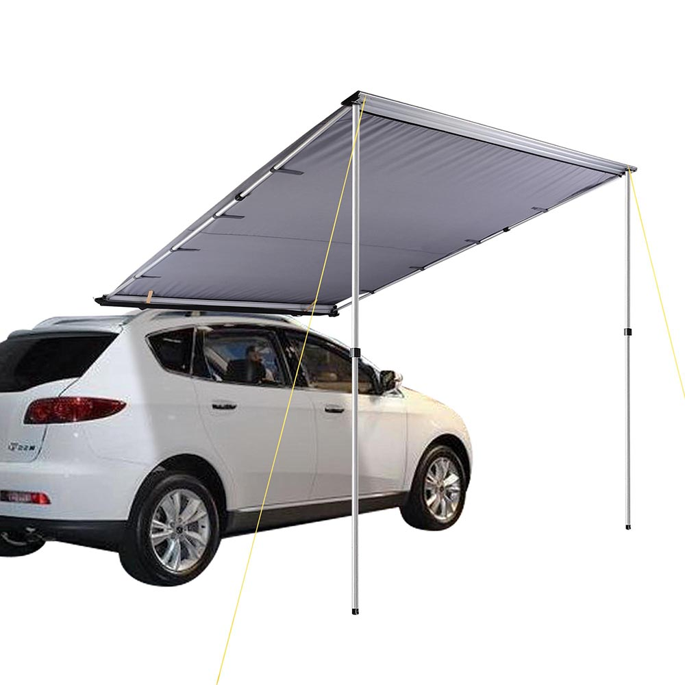 Yescom 6.6'x8.2' Car Side Awning Rooftop Pull Out Tent Shelter PU2000mm UV50+ Shade SUV Outdoor Camping Travel Grey by Yescom
