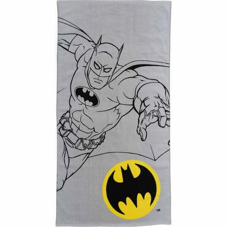 Batman Kids Bath Towel, 25 in x 50 in, Cotton, 1