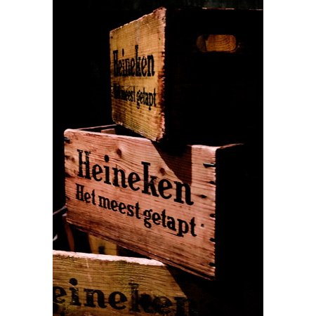 Framed Art For Your Wall Amsterdam Beer Wood Beer Box Alcoholic Beverage 10x13 Frame