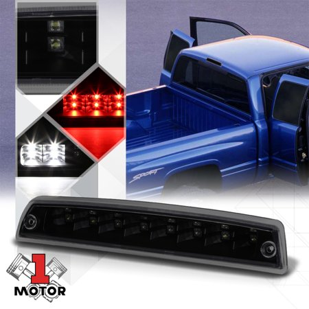 Black Smoke LED Third [3rd] Brake Light Cargo for 94-02 Dodge Ram 1500/2500/3500 95 96 97 98 99 00 01 97 98 99 Jetta Tail