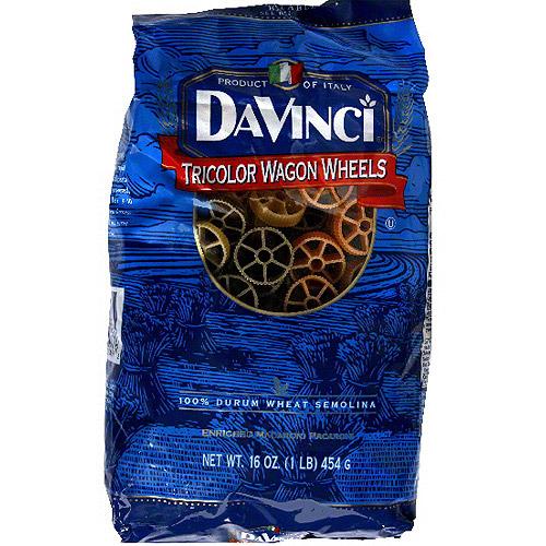 Davinci Tricolor Wagon Wheels Pasta, 16 oz (Pack of 12)