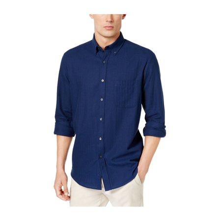 Club Room Mens Herringbone Flannel Button Up Shirt