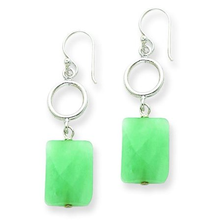 (Sterling Silver Amazonite Dangle Earrings Jewelry)
