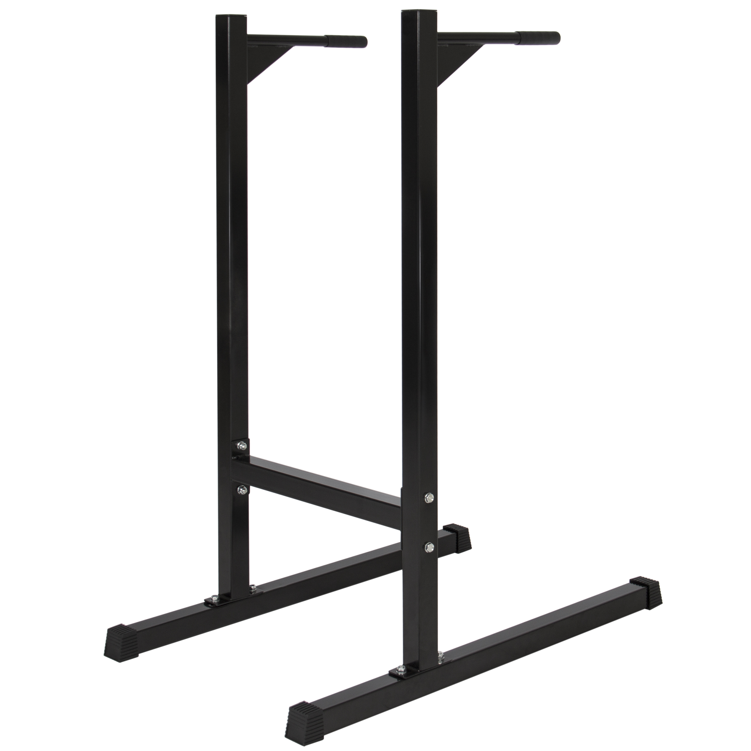 Best Choice Products Home Fitness Exercise Workout Station Stand For Push Up Bar Press Handles Grey Dips And W 500lb Weight Capacity Black