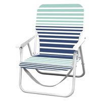 Caribbean Joe Folding Beach Chair - Blue Stripes