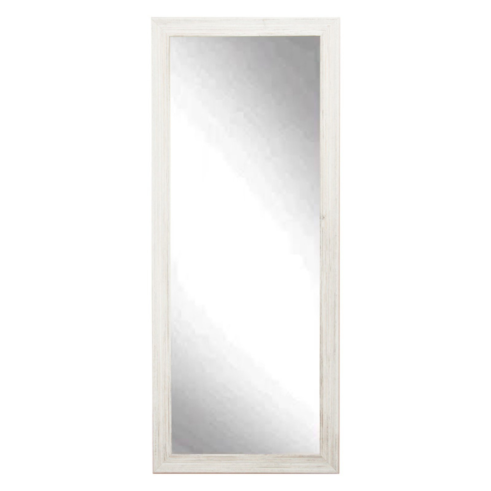 BrandtWorks Designers Choice Leaning Floor Mirror White by Brandt Works LLC