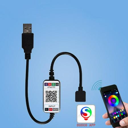 LeKing 5-24V Mobile Phone APP Intelligent Controller LED Mini Bluetooth Controller Wireless Dimmer for RGB LED Strip Light - image 1 of 9