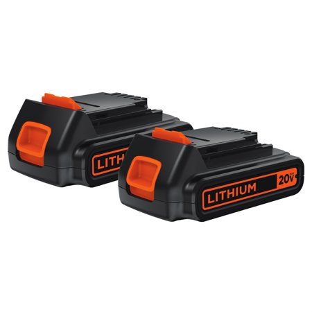 BLACK+DECKER 20-Volt Lithium-Ion Cordless 2-Pack Battery, (Hitachi 12 Volt Lithium Ion Battery Charger)
