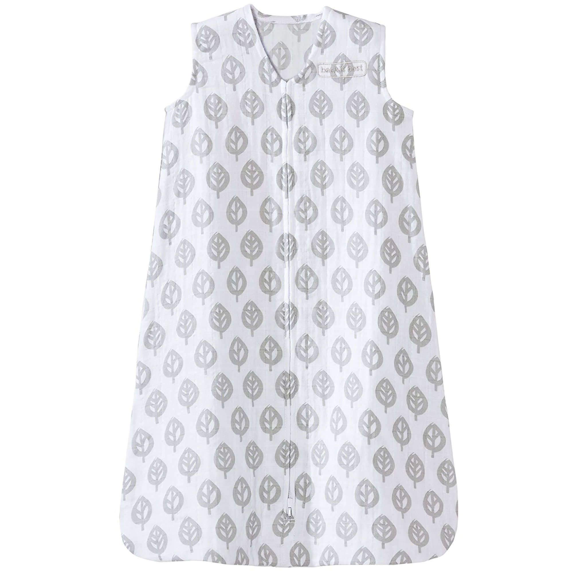 Halo 100% Cotton Muslin Baby Sleepsack Wearable Blanket, Grey Tree Leaf, Extra-Large