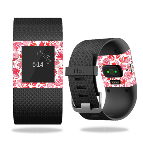 Skin Decal Wrap for Fitbit Surge cover skins sticker watch Blue Petals