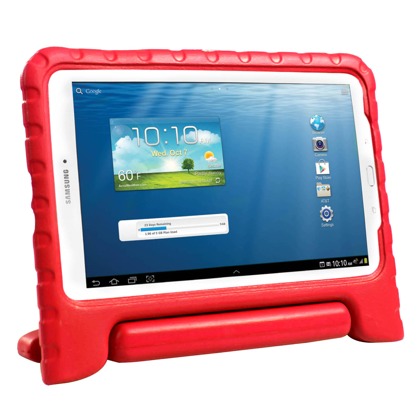 HDE Galaxy Tab E 9.6 Kid Proof Case Cover Light Weight Shockproof Stand for Samsung Galaxy Tab E 9.6 Inch Tablet (Red)