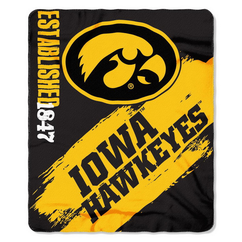Iowa Hawkeyes Blanket 50x60 Fleece College Painted Design