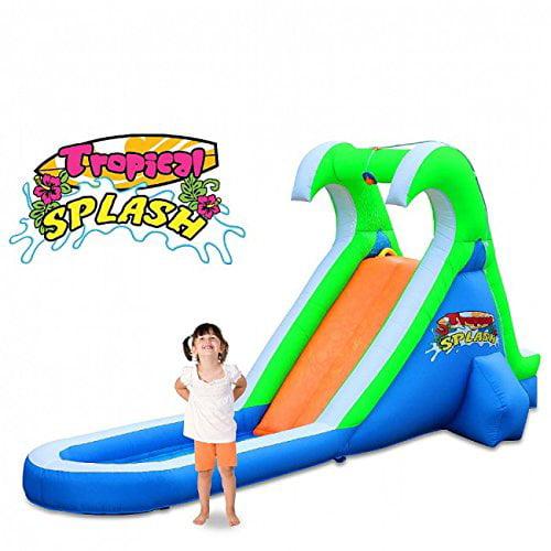 Blast Zone Tropical Splash Compact Backyard Water Slide