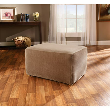 Sure Fit Stretch Stripe Ottoman Slipcover - Sure Fit Stretch Stripe Ottoman Slipcover - Walmart.com