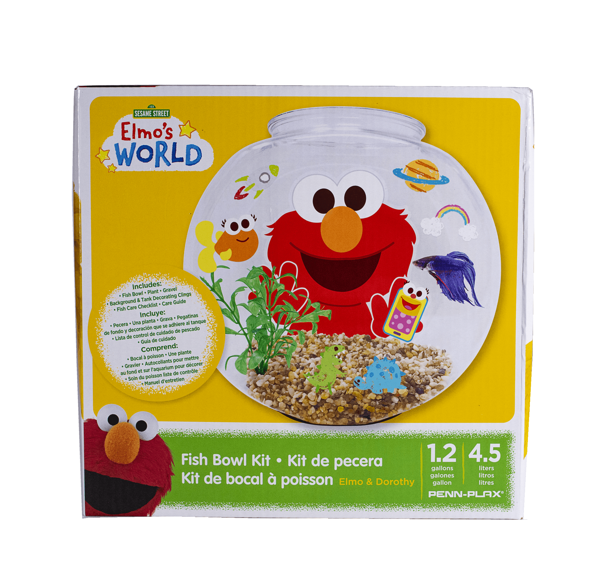 Elmo S World Fish Bowl Kit Walmart Com
