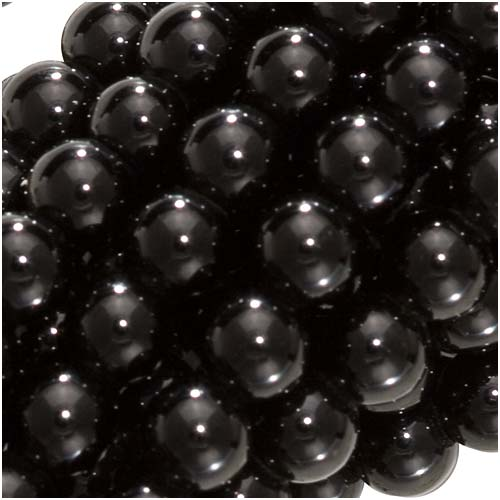 Black Agate Gemstone 4mm Round Beads /15.5 Inch Strand