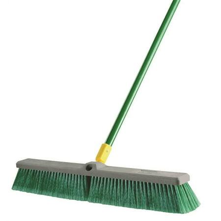 Quickie 00538 Dual Purpose Push Broom, Polypropylene Fiber Bristle, 18 in Resin Block, 15/16 in Dia