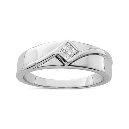 Designer Sterling Silver Rhodium Plated Diamond Men's Ring Made In India -Jewelry By Sweet Pea (Cost Of 1 Carat Diamond In India)