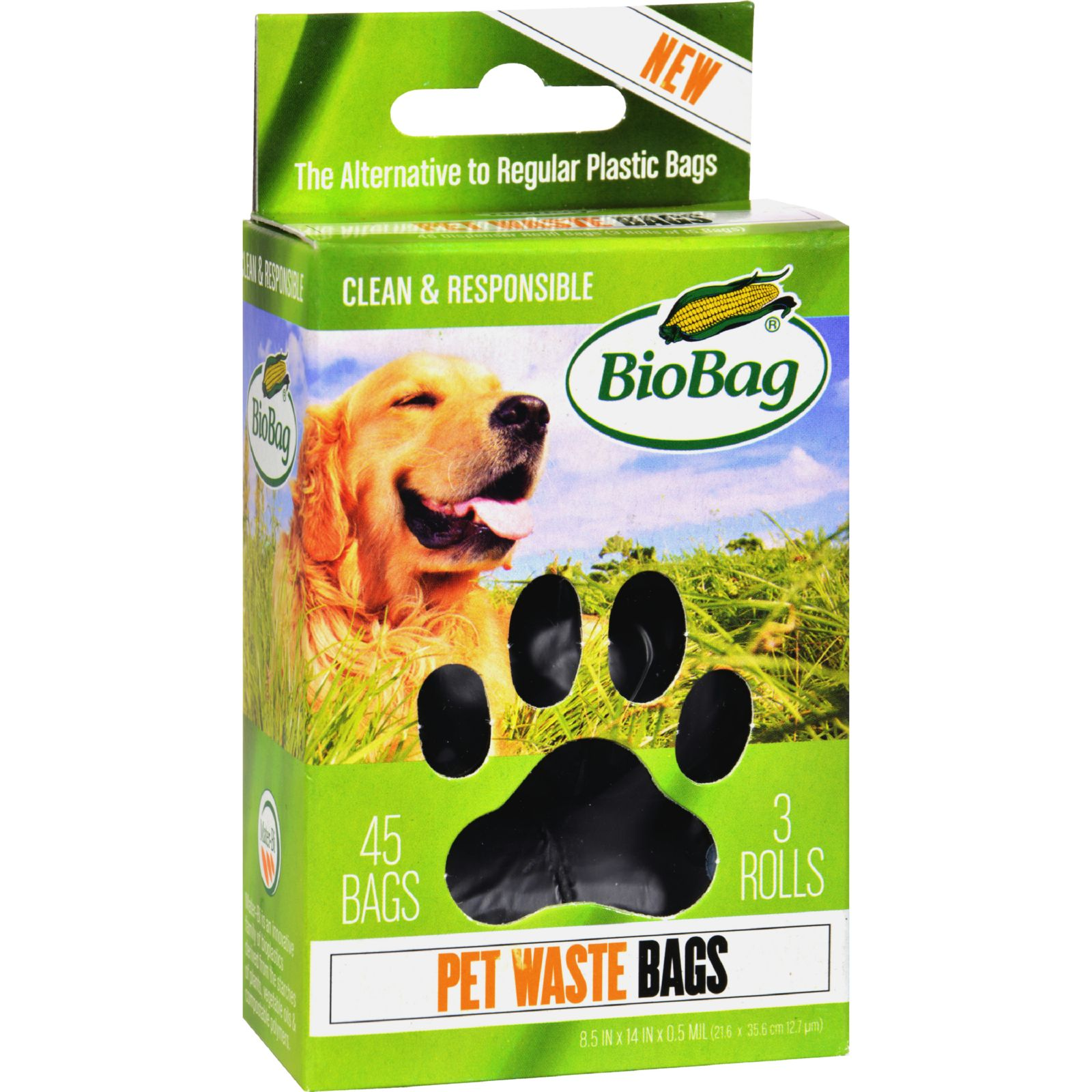 BioBag Dog Waste Bags on a Roll, 45 ct