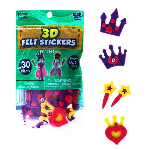 KIDS CRAFT 3D Felt Stickers, Princess