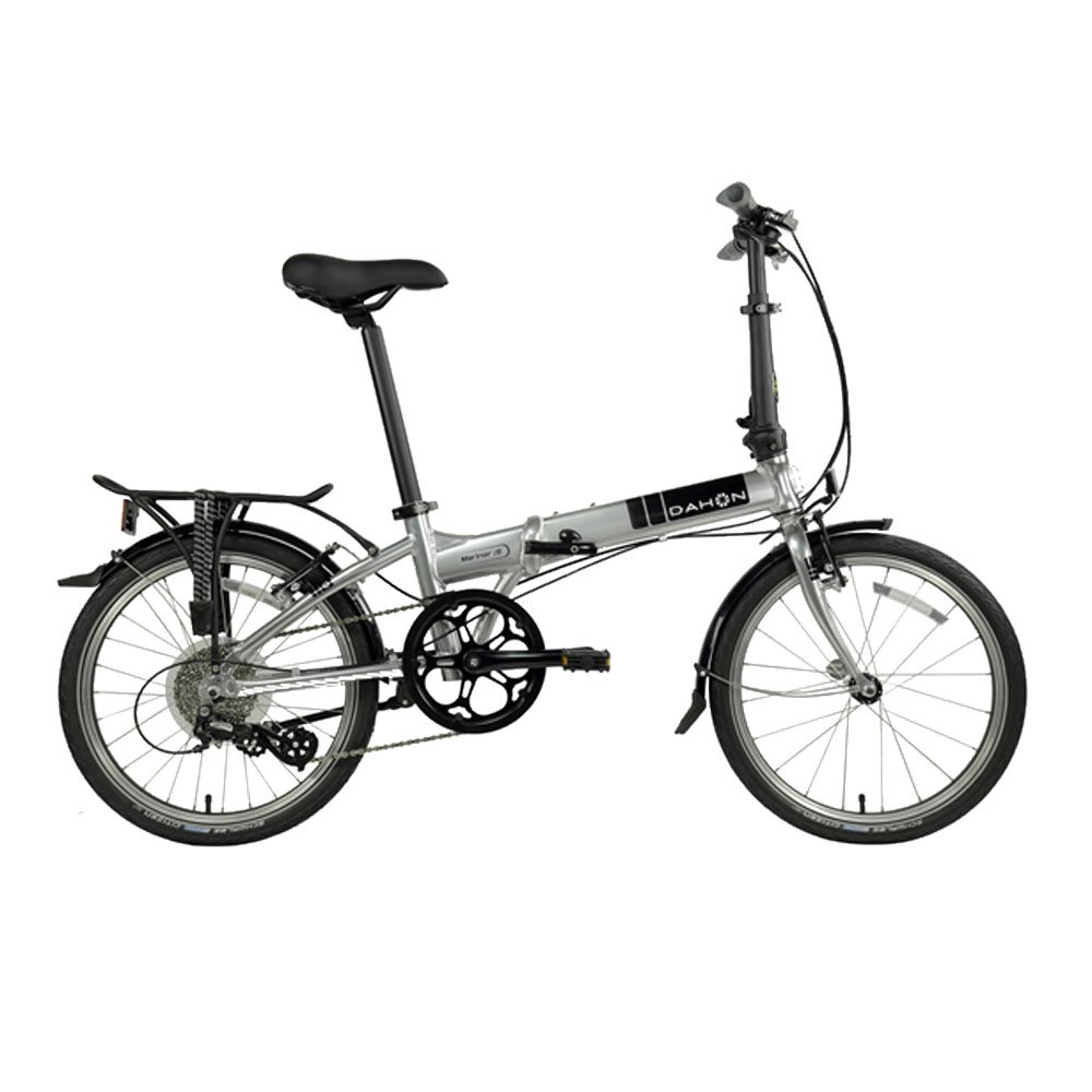 Dahon Bikes Mariner D8 8 Speed Light Aluminum Portable Folding Bicycle, Silver