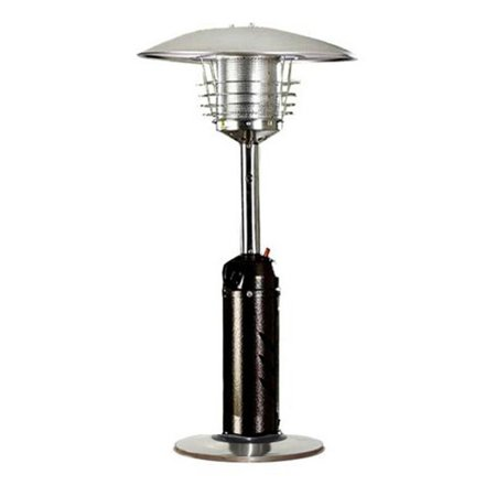 Hiland Portable Hammered Bronze And Stainless Steel Patio Heater