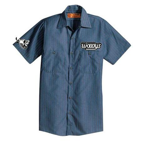 Woodys 102-PITBL-2  Woody's 11/12 Pit Shirt Blue Medium
