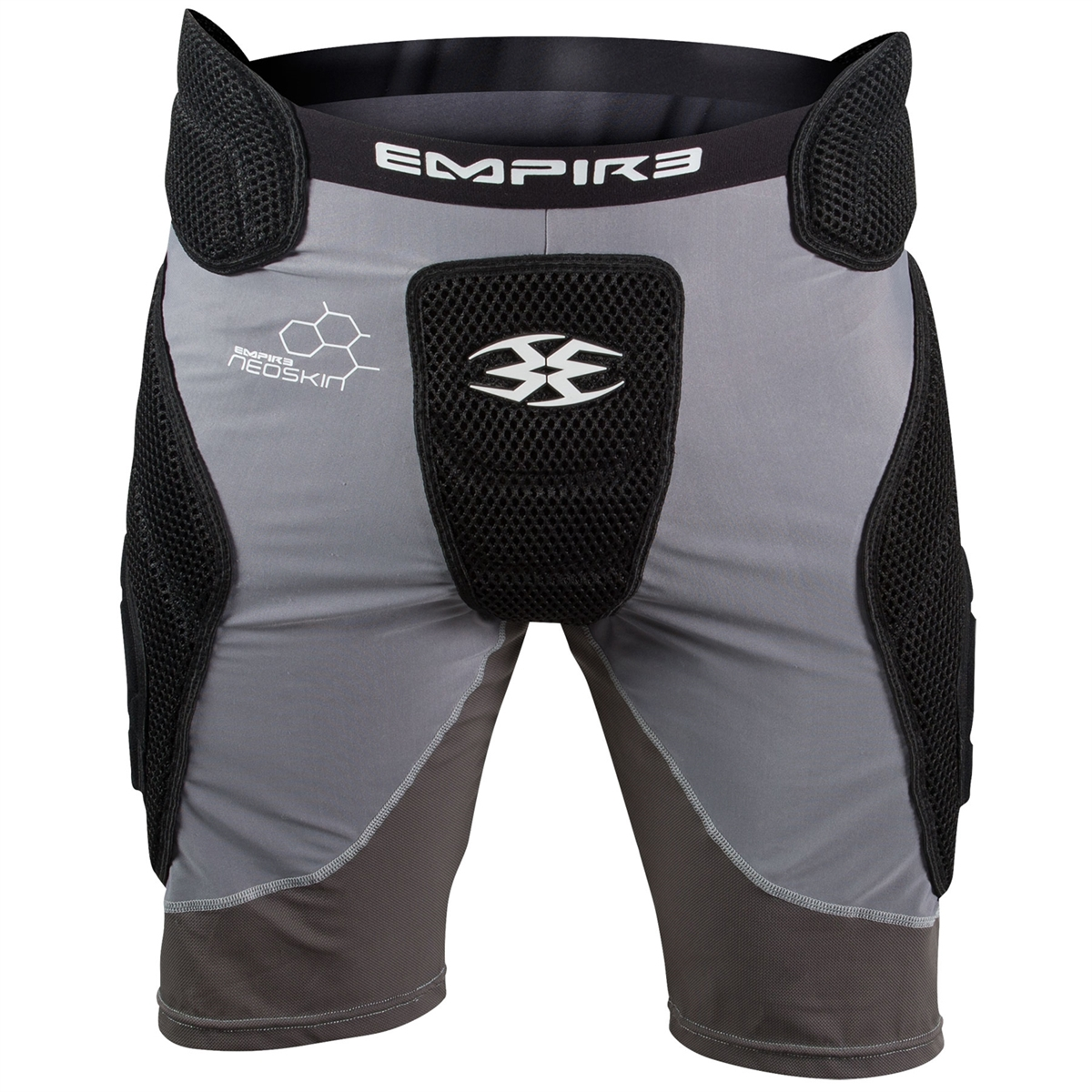 Empire Paintball Neoskin Slider Shorts - Black/Grey - Small