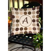 Thumbprintz Dots Monogram Neutral Decorative Pillows