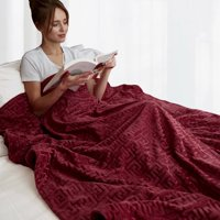"""MerryLife Weighted Blanket 15 lbs 48"""" X 72"""" Twin Size   Duvet Cover Removable   Glass Beads Filling Heavy Blanket Grey"""