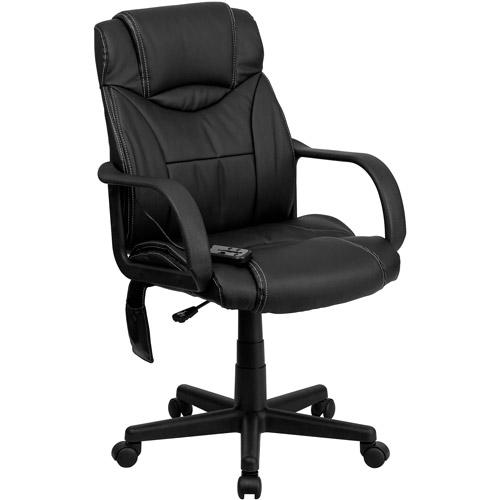 Flash Furniture High Back Massaging Leather Executive