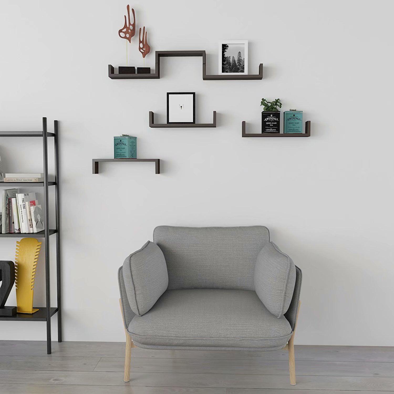 Clearance!Set of 3 Floating Display Shelves Ledge Bookshelf Wall Mount Storage Home Décor Black
