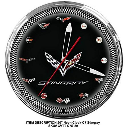 Corvette C7 Stingray Genuine Vette Neon Wall Clock 20