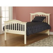 Mission Style Solid Wood Twin Bed-Finish:French White