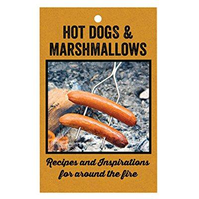rome industries hot dogs & marshmallows recipe book, 5.5 x 8.5, black