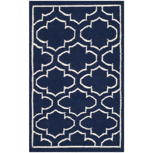 Safavieh Dhurries Navy/Ivory Area Rug