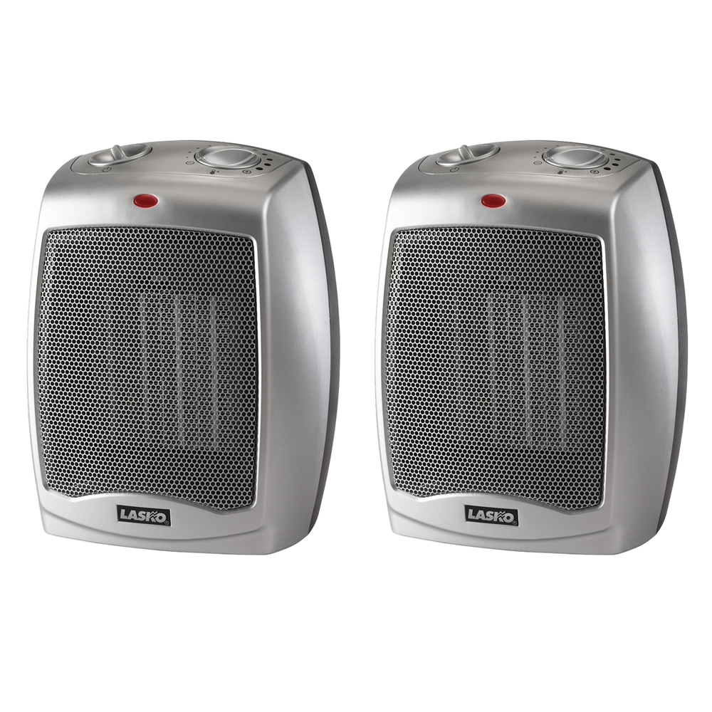 Lasko Ceramic heater 2-Pack with Adjustable Thermostat 754200