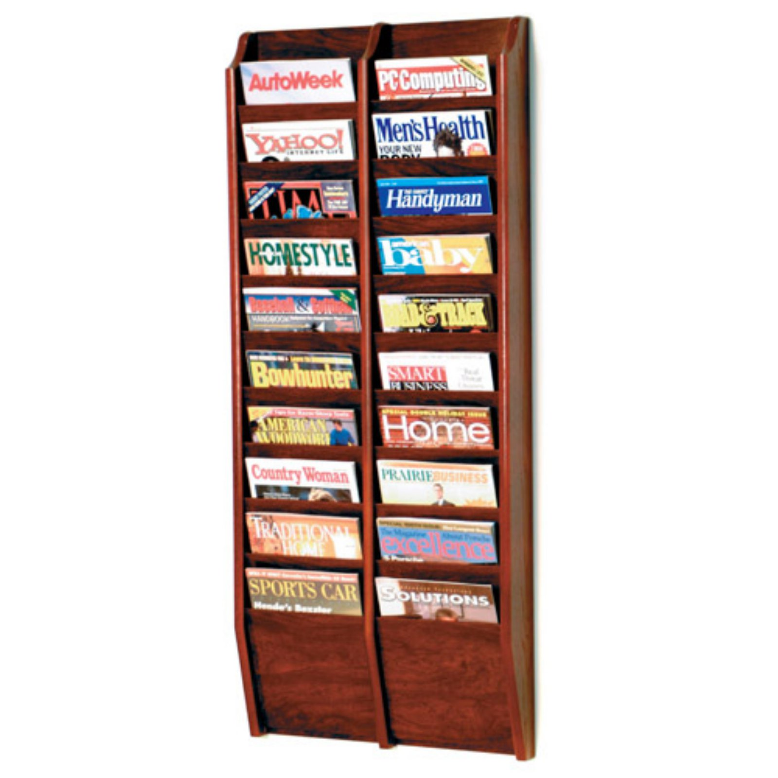 20-Pocket Wall Magazine Rack by Wooden Mallet