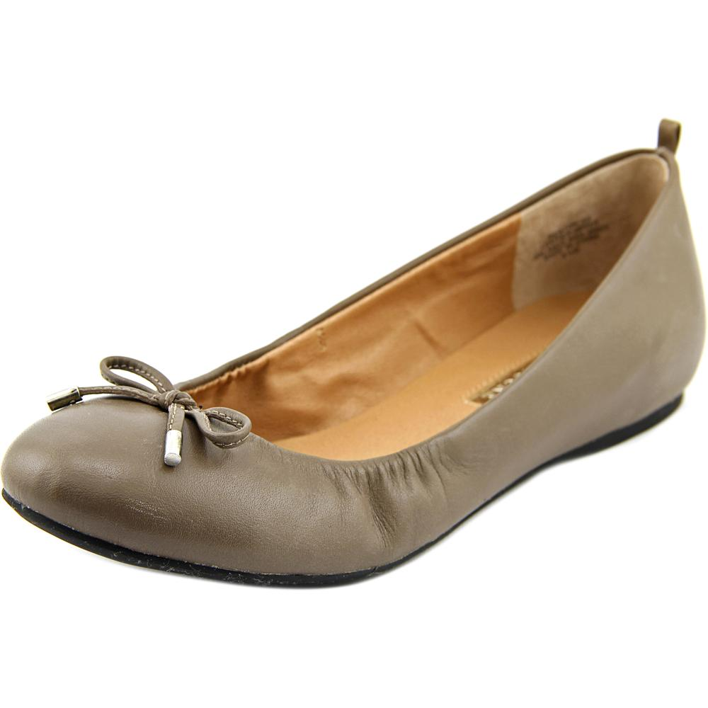 Audrey Brooke Newton Women  Round Toe Leather Gray Ballet...