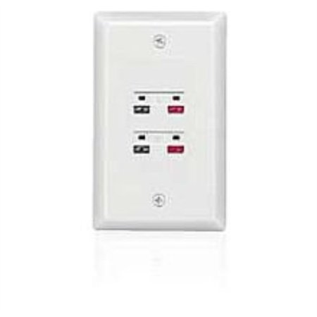 4-Terminal In-Wall Stereo Speaker Wall Plate
