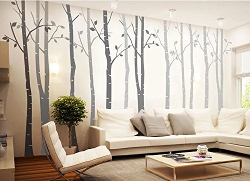 Attrayant Popeven 4 Big Birch Tree Wall Decal Nursery Removable Vinyl Tree Wall Decals  For Living Room