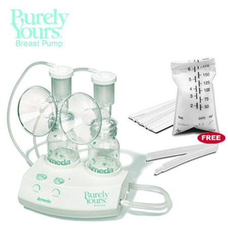 Image of Ameda 17070KIT4 Purely Yours Breastpump Combo 4 with One Free Box of Ameda Mil