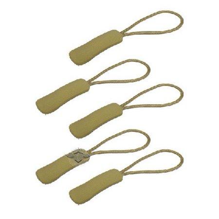5ive Star Gear 6169000 Nylon Cord Zipper Pulls Pack of 5 - Khaki Zipper
