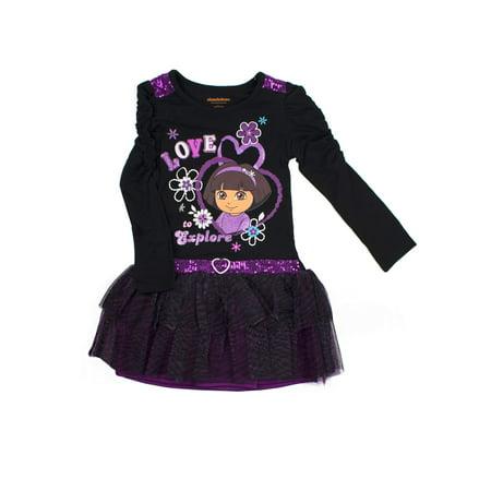Black Corset Dress With Tutu (Love to Explore Long Sleeve Tutu)