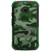 Beyond Cell Tri Shield Case for Motorola Moto E (2nd Gen) - Green Camouflage